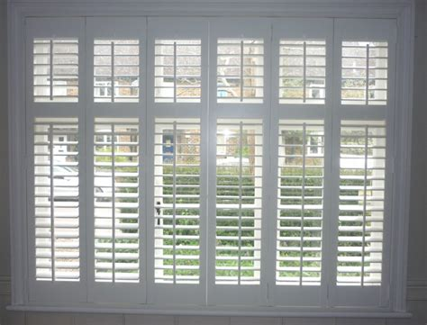 Shutter Blinds Plantation Shutters With Midrail