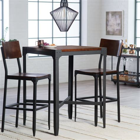 high top bar table set belham living trenton 3 piece pub table set bar pub high