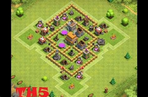 coc layout defense th5 clash of clans best town hall 5 defense coc th5 www