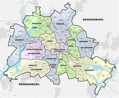 large map of germany large detailed administrative subdivisions map of berlin