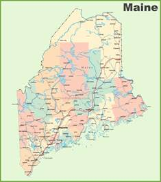 map of the state of with cities road map of maine with cities