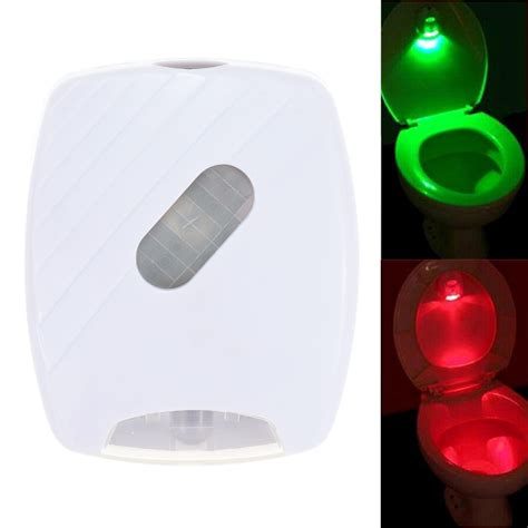 battery powered led bathroom lights led human motion activated pir light sensor toilet light