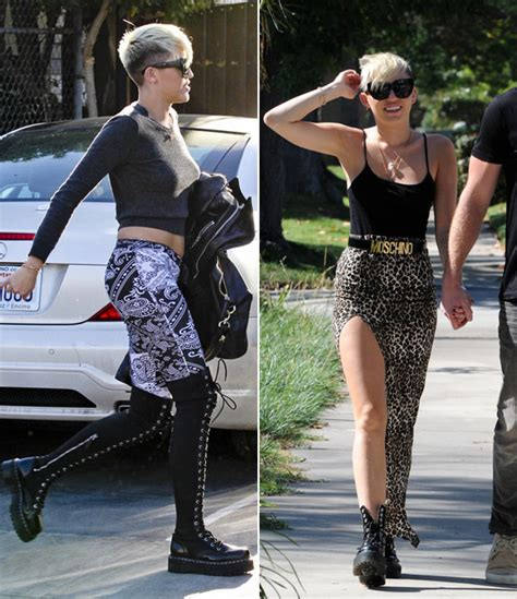 clothing style with short hair cut miley cyrus fashion styles since she got new short haircut