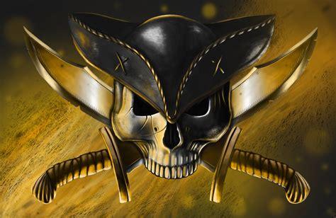 wallpaper craft knife art pirate skull hat guns knives jolly roger wallpaper