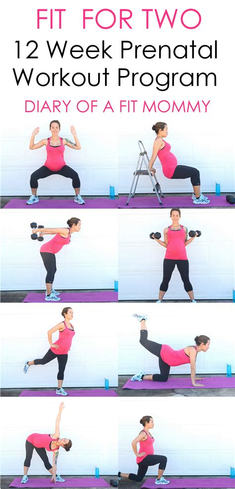 diary of a fit mommymy weekly pregnancy workout schedule