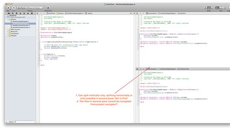 xcode layout files xcode4 xcode 4 split screen feature stack overflow