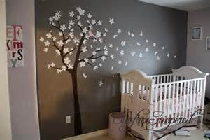 Nursery Tree Wall Decal Wall Decals For Nursery Contemporary Tree Decal With Blowing