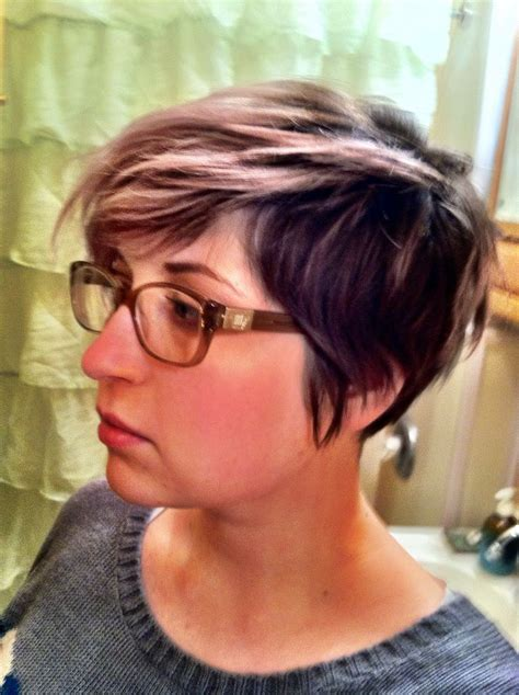 hairstyles for grown out highlights short hair silver pastel pink lavender undercut grown out