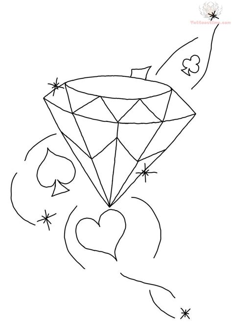 diamond tattoo stencil 100 traditional outline diamond tattoo design best