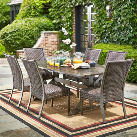Home Depot Outdoor Patio Dining Sets Hton Bay Carleton Place 7 Patio Dining Set Rxhd 43 Set The Home Depot