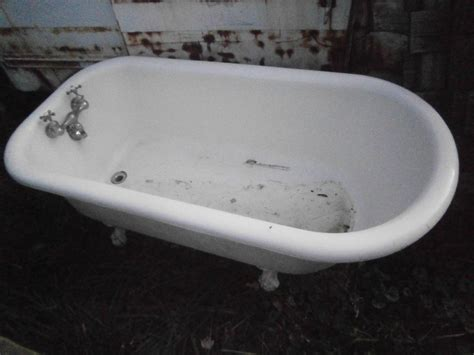vintage clawfoot bathtub antique vintage claw foot tub 5 ft super clean ebay