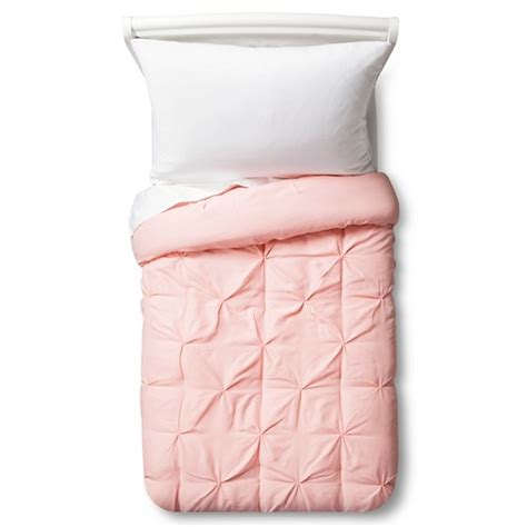 target pink bedding pinch pleat comforter toddler light pink pillowfort target