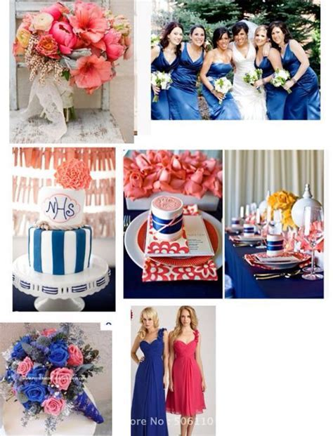 1000  images about Royal blue and peach/coral wedding