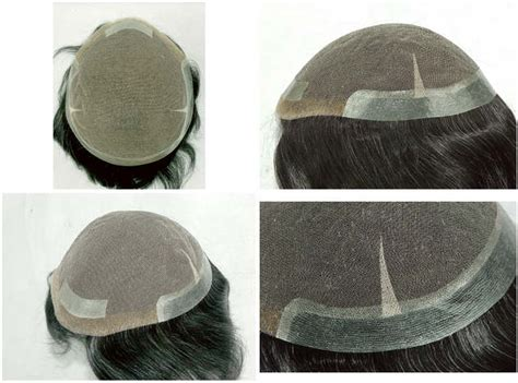 hair replacement system asia factory direct french lace base skin perimeter hair
