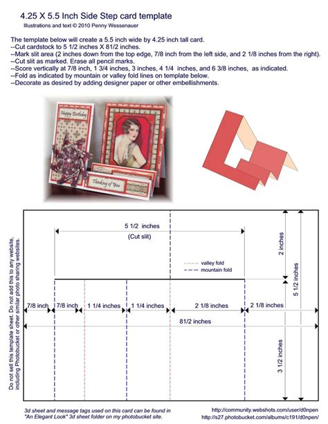 z fold card template 4 25 x 5 5 inch side step card template i always