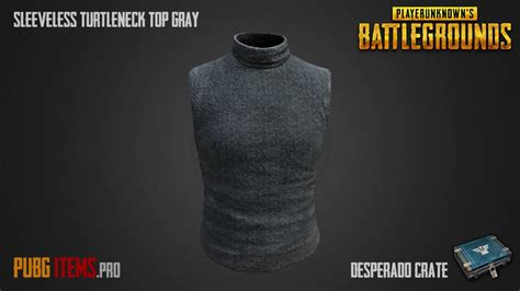 Cs708 Top Turtle V Line Grey sleeveless turtleneck top gray pubg item showcase