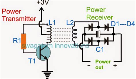 capacitor energy transfer wireless cellphone charger circuit
