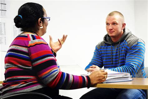 probation officer delivering one to one programme to an