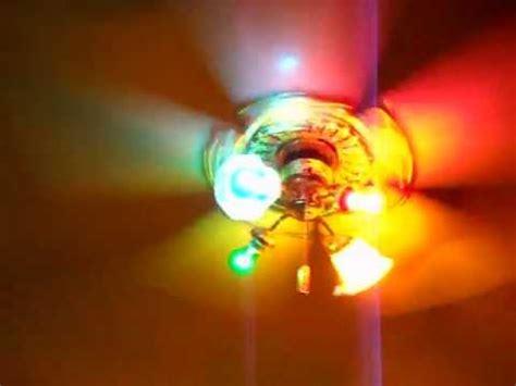 colorful ceiling fans  lights