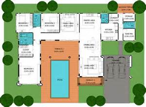 Swimming Pool Floor Plan by House Plans With A Pool Smalltowndjs Com