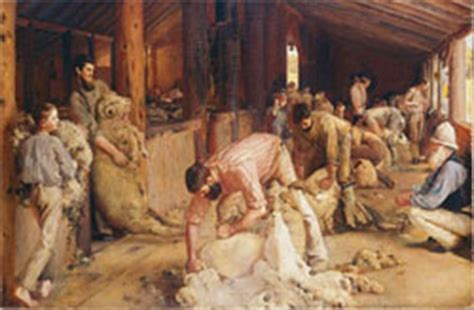 tom shearing the rams australian impressionism