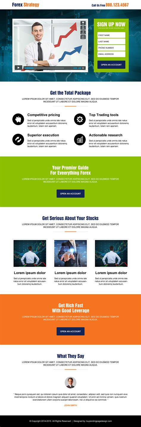 forex landing page template forex trading landing pages 2015 for best conversion sales