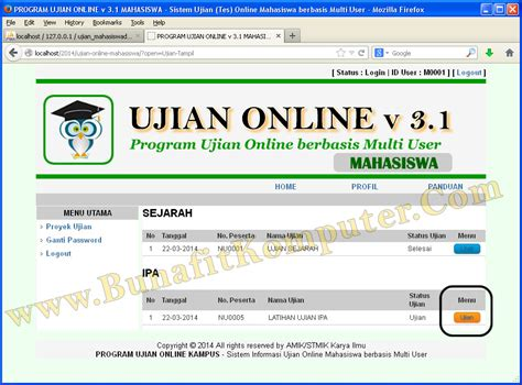 tutorial ujian online membuat sistem login dengan dreamweaver animegue com