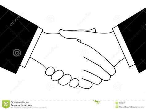 clipart bianco e nero stretta di mano di affare di affari di clipart in in