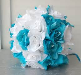 turquoise flowers 15pc turquoise white wedding bouquets boutonnieres corsages silk flower