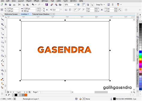 coreldraw tutorial coreldraw tutorial inner shadow text effect galih gasendra