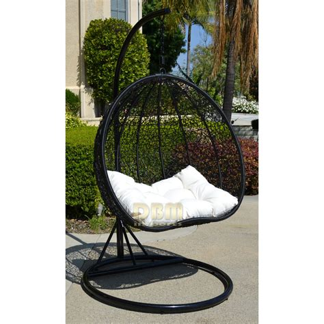 rattan swing 2 persons seater bird egg nest wicker rattan swing lounge