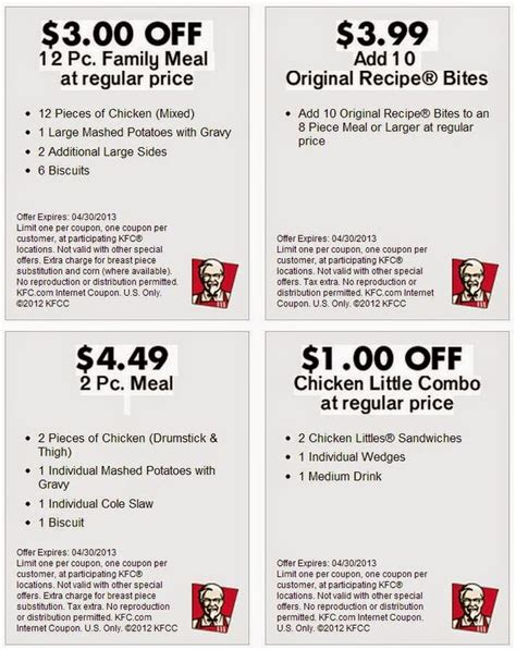 printable kfc coupons printable coupons kfc coupons
