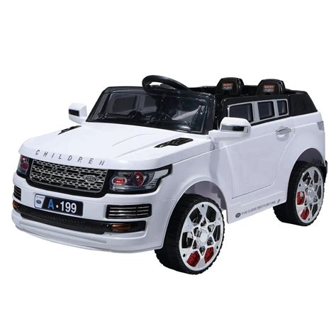 Pedal Mobil Luxury By Excell luxury suv 12v ride on white jet