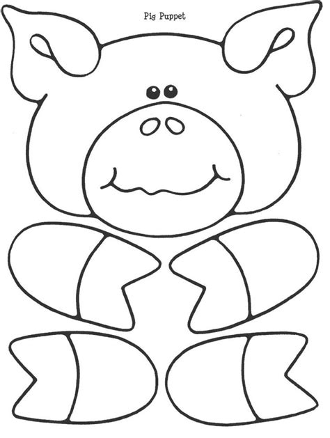 pattern for a paper bag stencil for pig paper bag puppet appliqu 233 boys