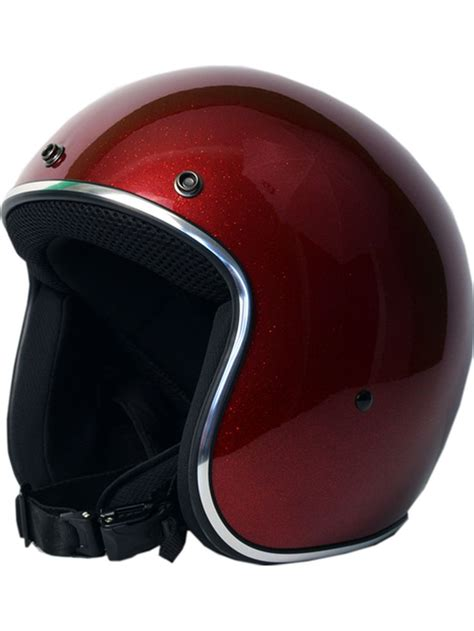 sick motocross helmets sick lid 3 4 retro red flake motorcycle helmet head gear