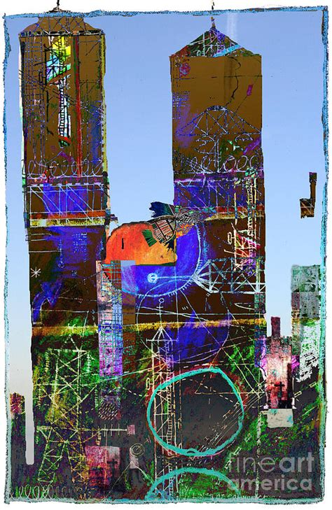 twin towers digital art  andy mercer