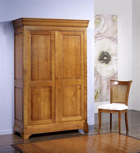 armoire en merisier massif armoire 2 portes m 233 lodie en merisier massif de style louis philippe 132 cm de large