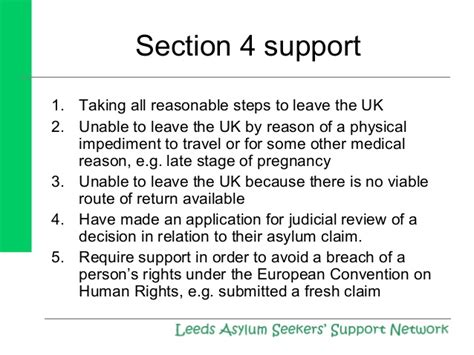section 4 asylum support lassn the asylum journey updated october 2013