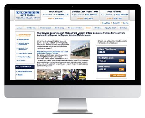 Klaben Chrysler by 187 Klaben Auto Website And Marketing Materials