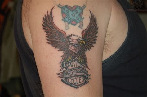 harley davidson eagle tattoo gallery harley davidson motorcycles eagle tattoo on bicep