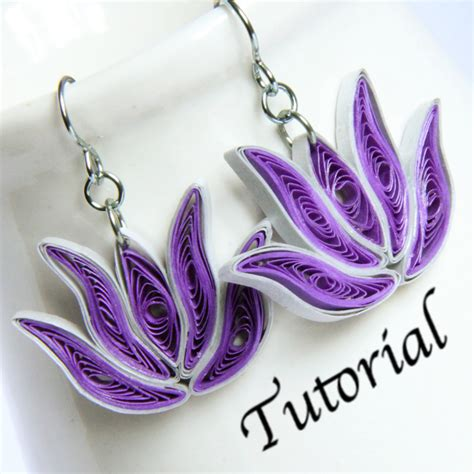 quilling paper earrings tutorial video tutorial for paper quilled lotus earrings and pend by