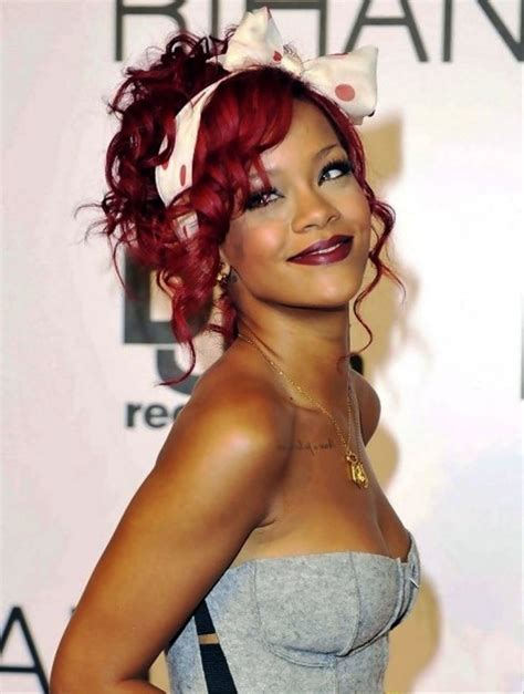 Hairstyles Pinned Up by Rihanna Pinned Up Curly Updo Hairstyle Behairstyles