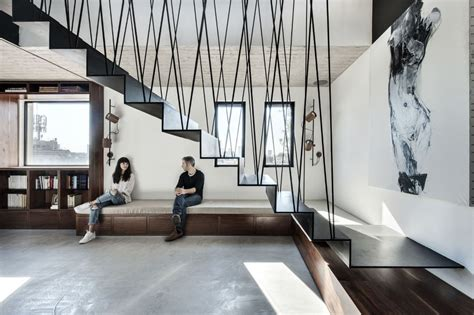 Interior Stairs Design In Duplex Apartments Duplex Penthouse Apartment With A Big Roof Terrace