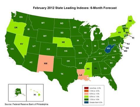 map of america states philadelphia philadelphia fed reports that state economies are
