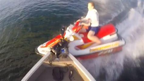 jet ski crashes into boat jetski crashes into fishing boat trf dock talk youtube