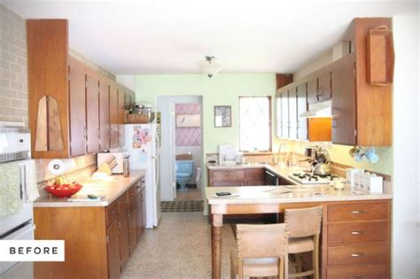 before and after kitchen makeovers on a budget before and after a stylish diy kitchen makeover on a