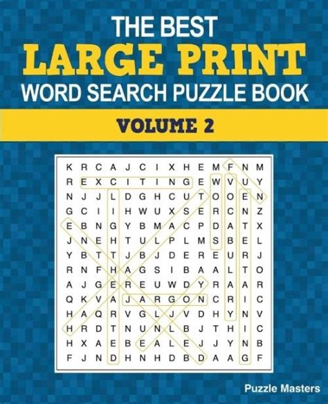 jumbo large print word finds puzzle book word search volume 73 books new the best large print word search puzzle book a