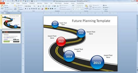 plan on a page template powerpoint free future planning powerpoint template free powerpoint