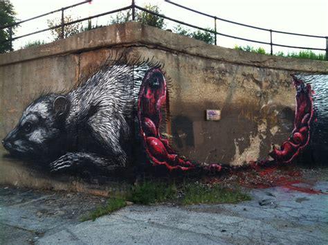 Photo Murals For Walls roa and a half eaten carcass in chicago brooklyn street art