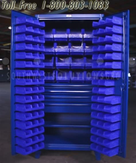 Heavy Duty Steel Bin Storage Cabinet with Drawers For
